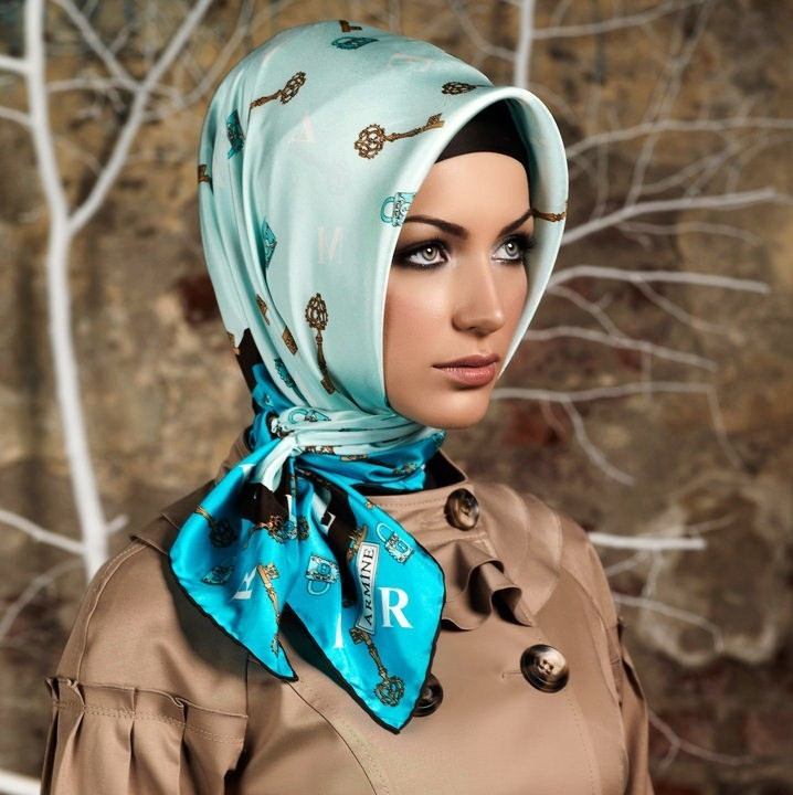 Latest fashion Hijab Styles and Scarf designs for women 2014-2015 (8)