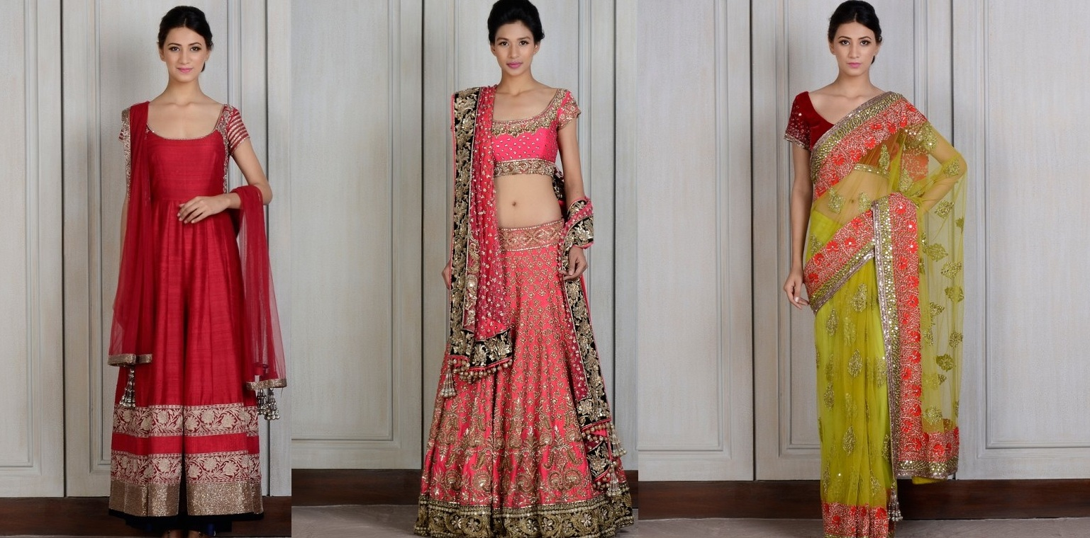 Manish Malhotra Latest fancy and embroidered dresses for women 2014-2015 (4)