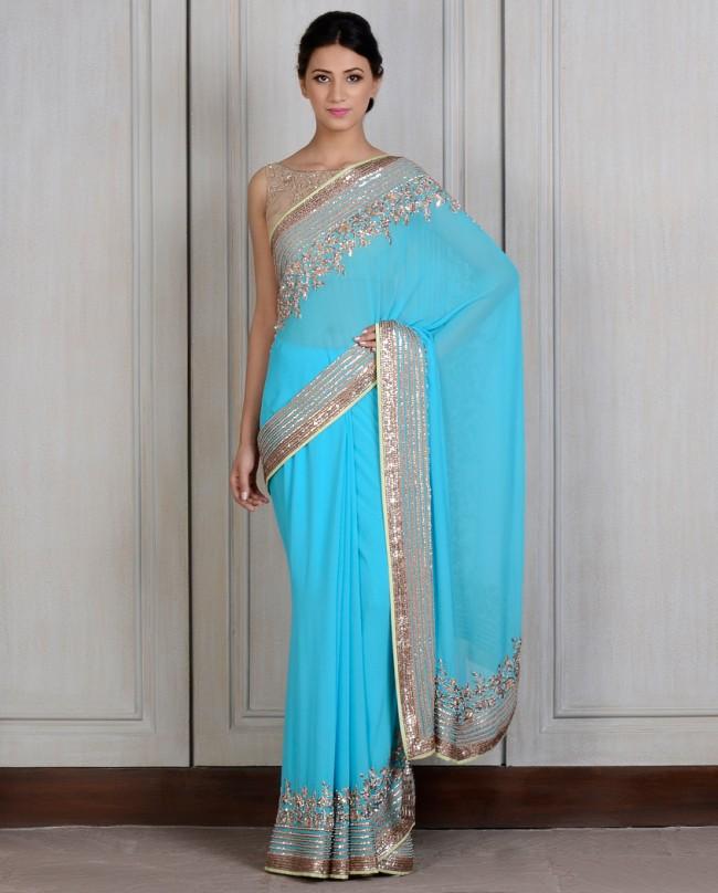 Manish Malhotra Latest saree dresses designs for women 2014-2015 (2)