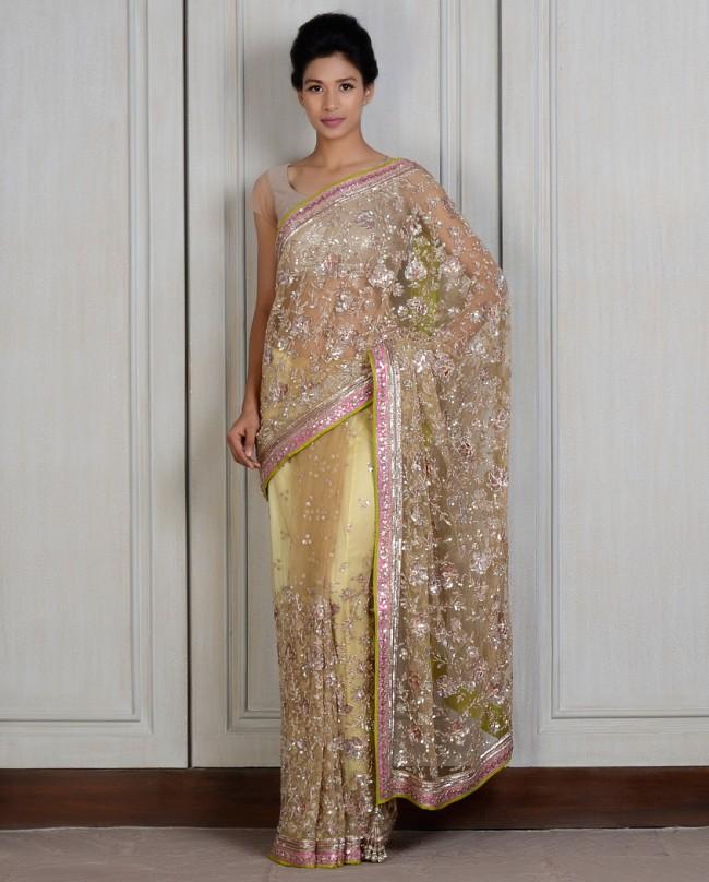 Manish Malhotra Latest saree dresses designs for women 2014-2015 (3)
