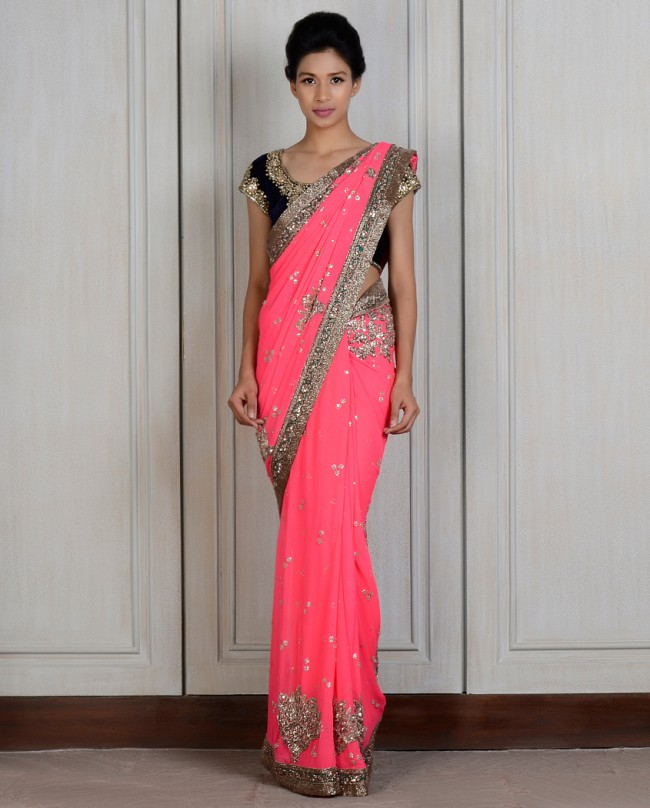 Manish Malhotra Latest saree dresses designs for women 2014-2015 (4)