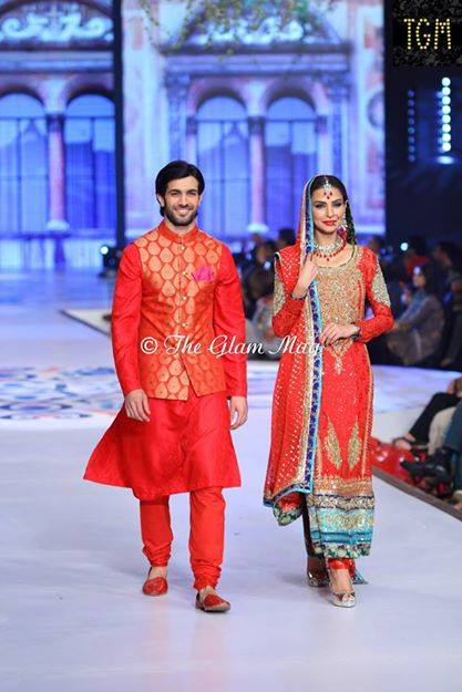 Nomi Ansari Latest Bridal Collection 2014-2015- Pantene Bridal Couture week 2014 (1)