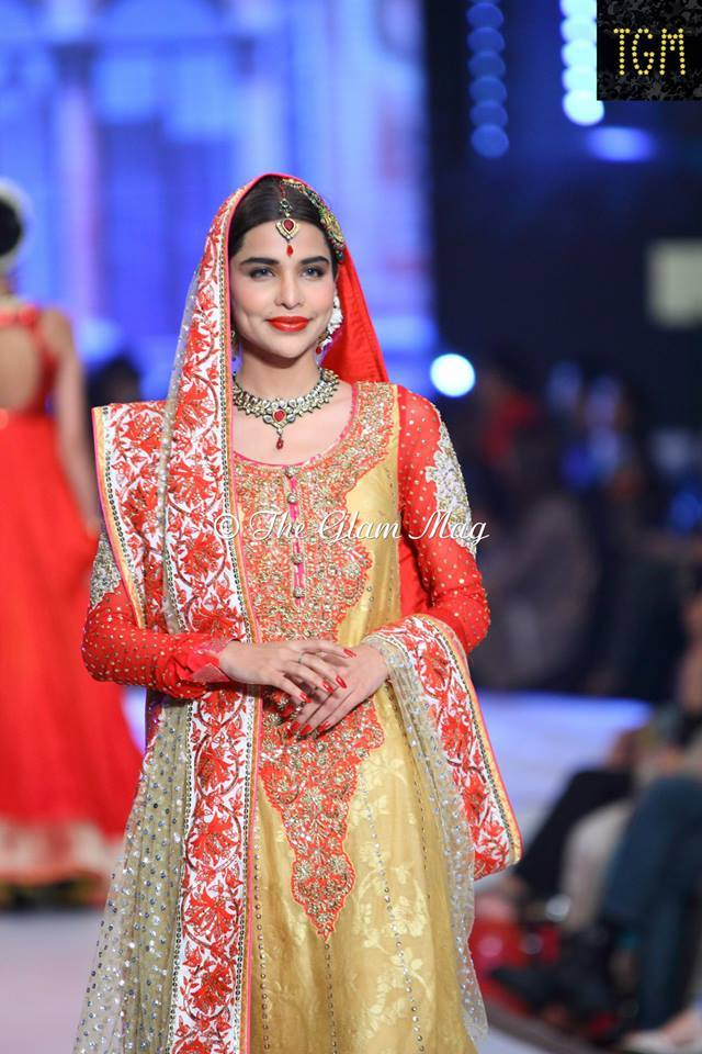 Nomi Ansari Latest Bridal Collection 2014-2015- Pantene Bridal Couture week 2014 (3)