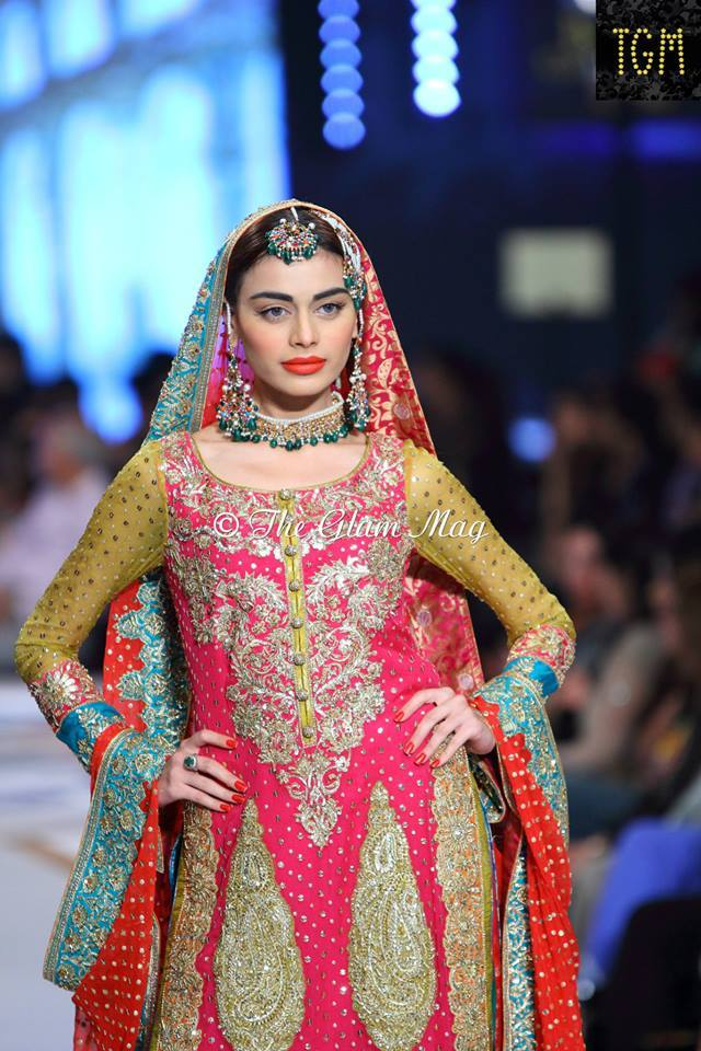 Nomi Ansari Latest Bridal Collection 2014-2015- Pantene Bridal Couture week 2014 (4)