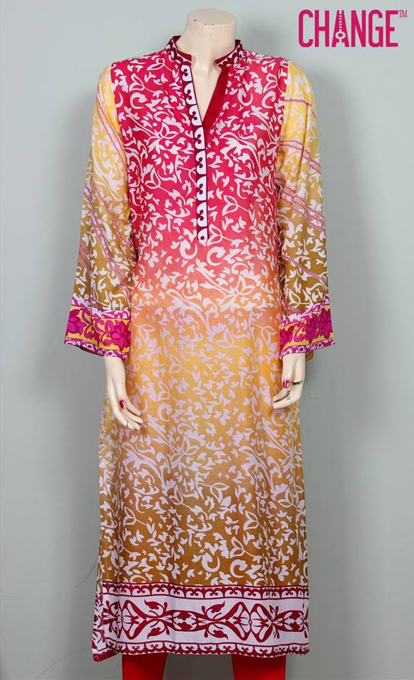 Stylish & Colorful Midsummer Season Kurti wear Dresses Designs for Women by Change 2014-2015 (12)