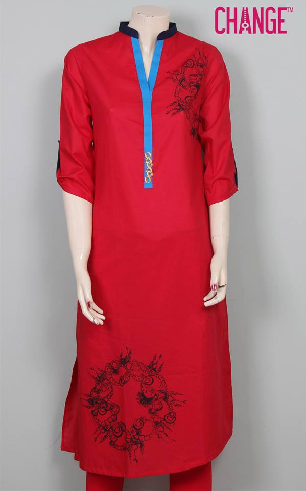 Stylish & Colorful Midsummer Season Kurti wear Dresses Designs for Women by Change 2014-2015 (14)