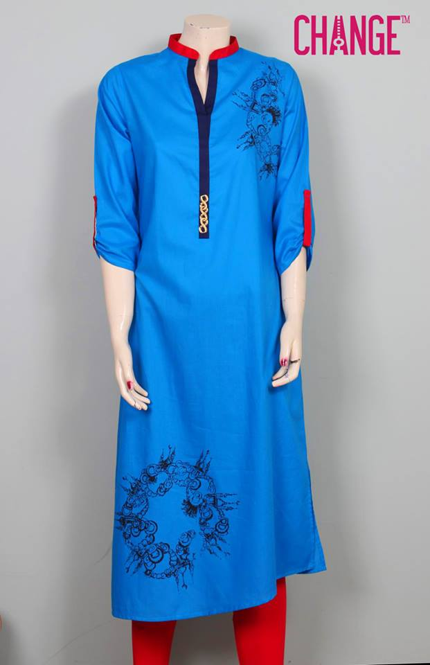 Stylish & Colorful Midsummer Season Kurti wear Dresses Designs for Women by Change 2014-2015 (15)