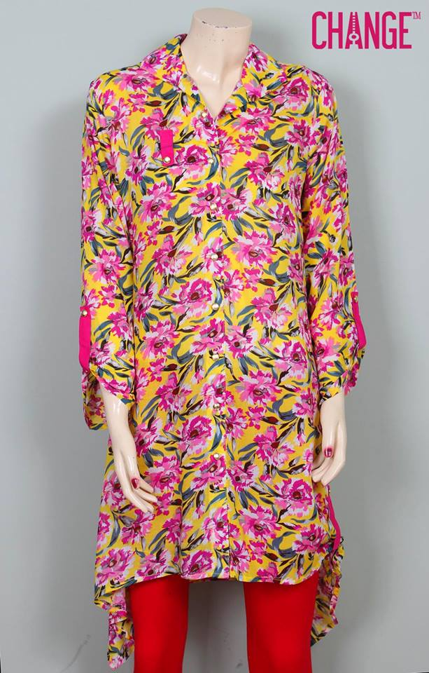 Stylish & Colorful Midsummer Season Kurti wear Dresses Designs for Women by Change 2014-2015 (2)