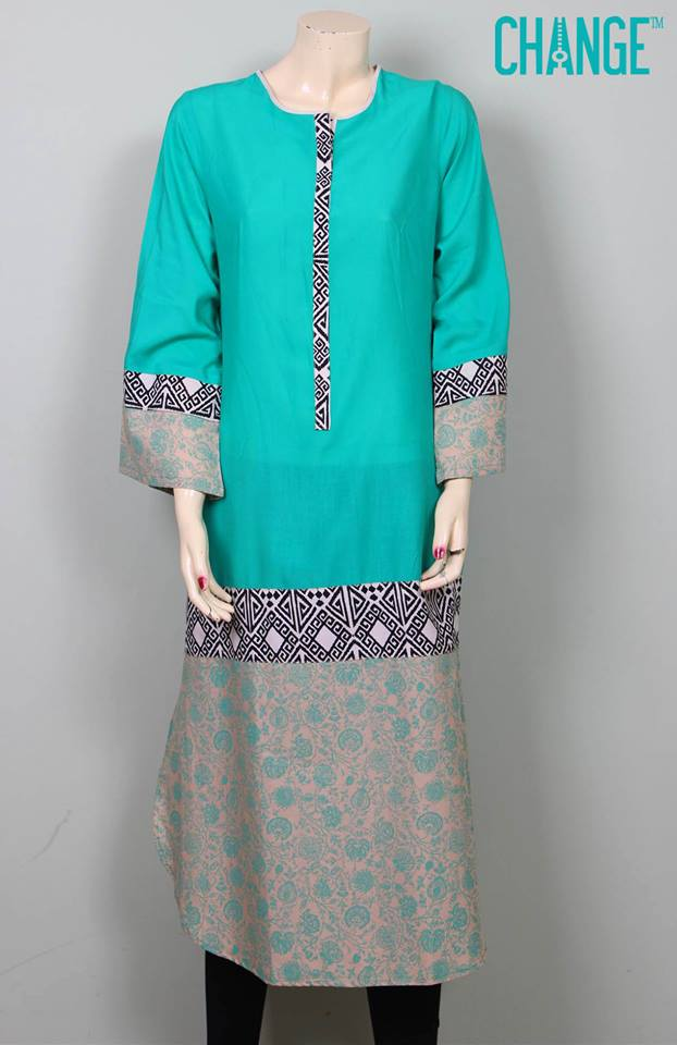 Stylish & Colorful Midsummer Season Kurti wear Dresses Designs for Women by Change 2014-2015 (5)