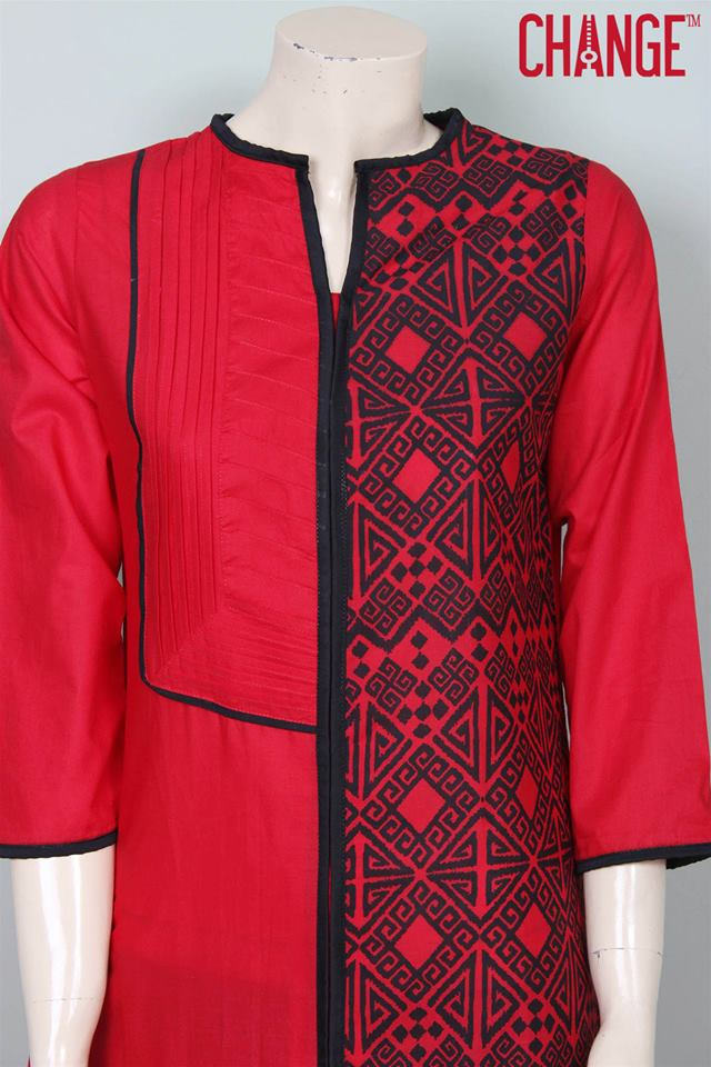 Stylish & Colorful Midsummer Season Kurti wear Dresses Designs for Women by Change 2014-2015 (8)