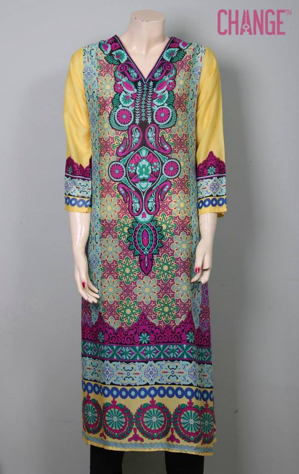 Stylish & Colorful Midsummer Season Kurti wear Dresses Designs for Women by Change 2014-2015 (9)