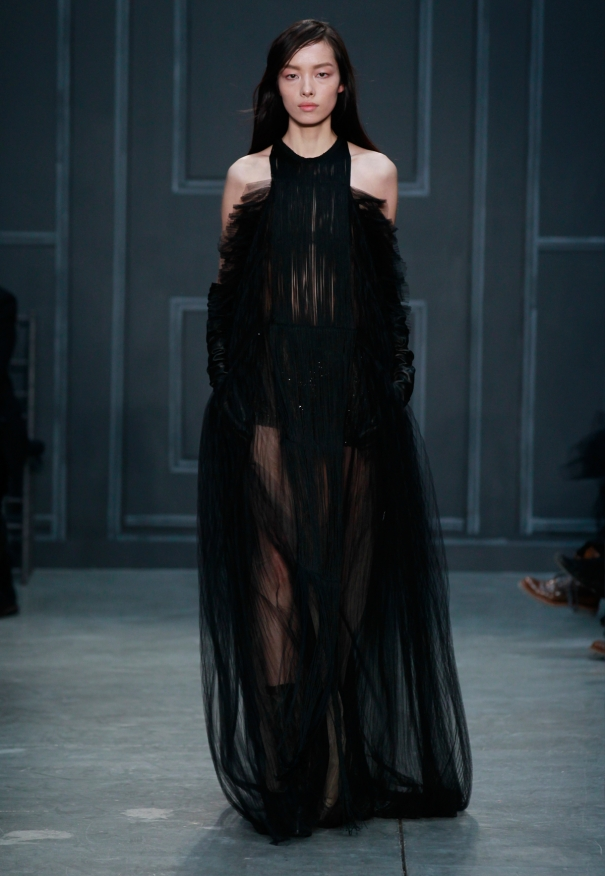 Vera Wang Fall Bridal Collection 2014-2015  Black color Wedding Dresses For Women  (1)
