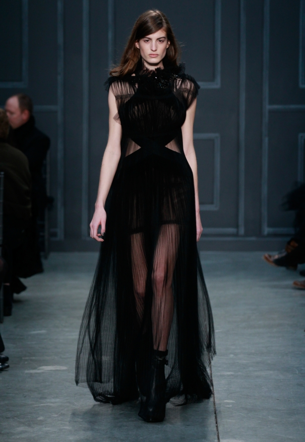 Vera Wang Fall Bridal Collection 2014-2015 Black color Wedding Dresses For Women (3)