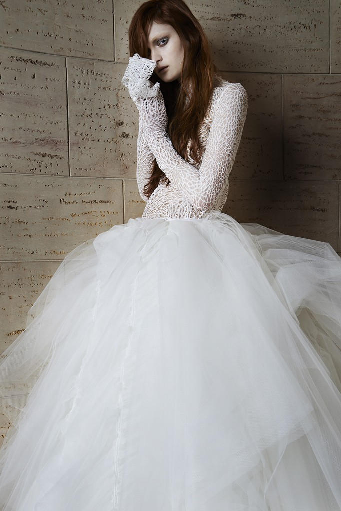 Vera wang Spring Bridal Collection 2014-2015 Wjhite wedding dresses (1)