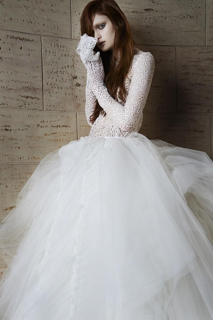 Vera wang Spring Bridal Collection 2014-2015 Wjhite wedding dresses (1)