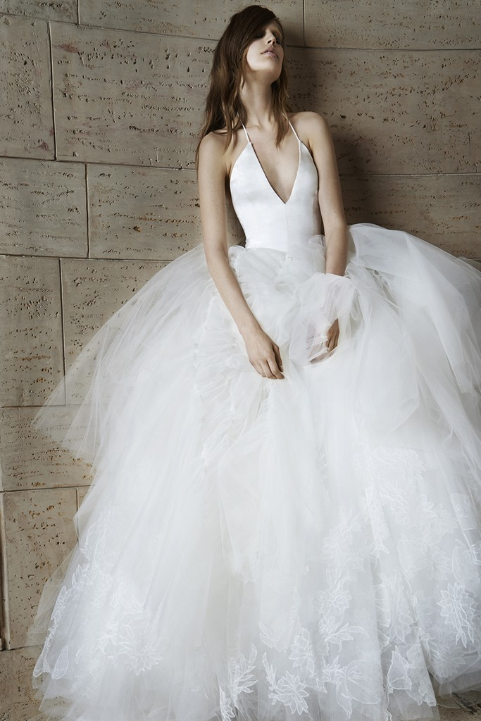 Vera wang Spring Bridal Collection 2014-2015 Wjhite wedding dresses (2)