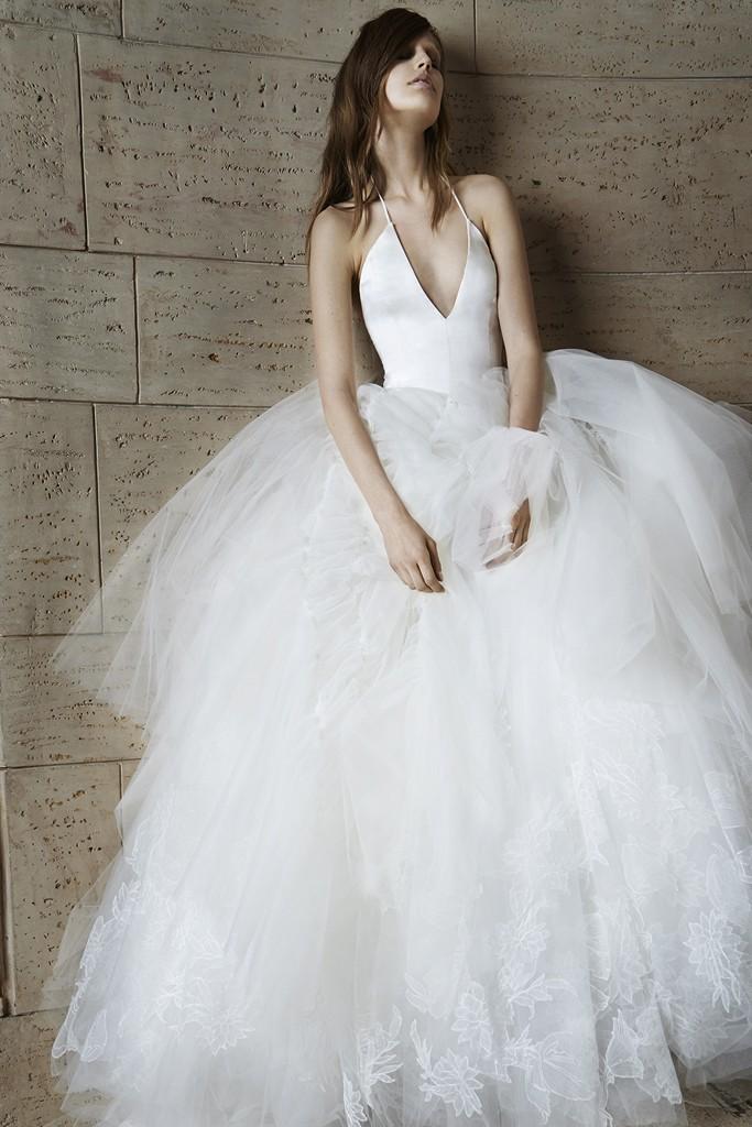 Vera wang Spring Bridal Collection 2014-2015 Wjhite wedding dresses (2)