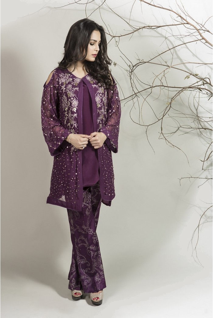 Winter Party Wear Dresses by Maria B Stitched Collection ...