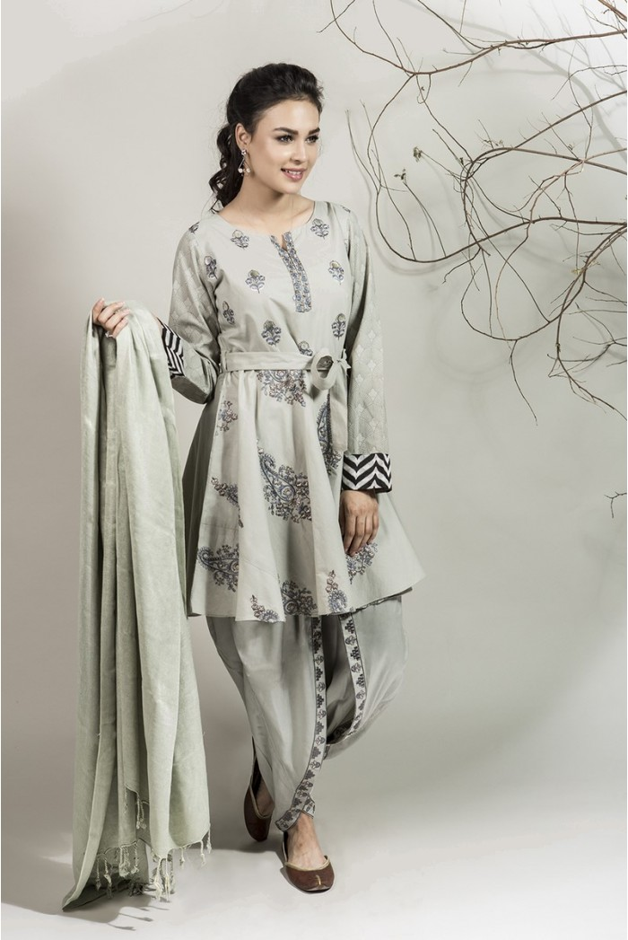 bfd58b072 Winter Party Wear Dresses by Maria B Stitched Collection 2018-2019