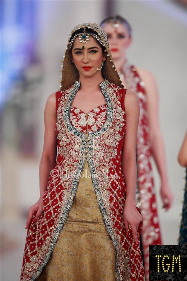 Zainab Chothani Latest Bridal collection 2014-2015 Pantene Bridal Couture week 2014 (1)