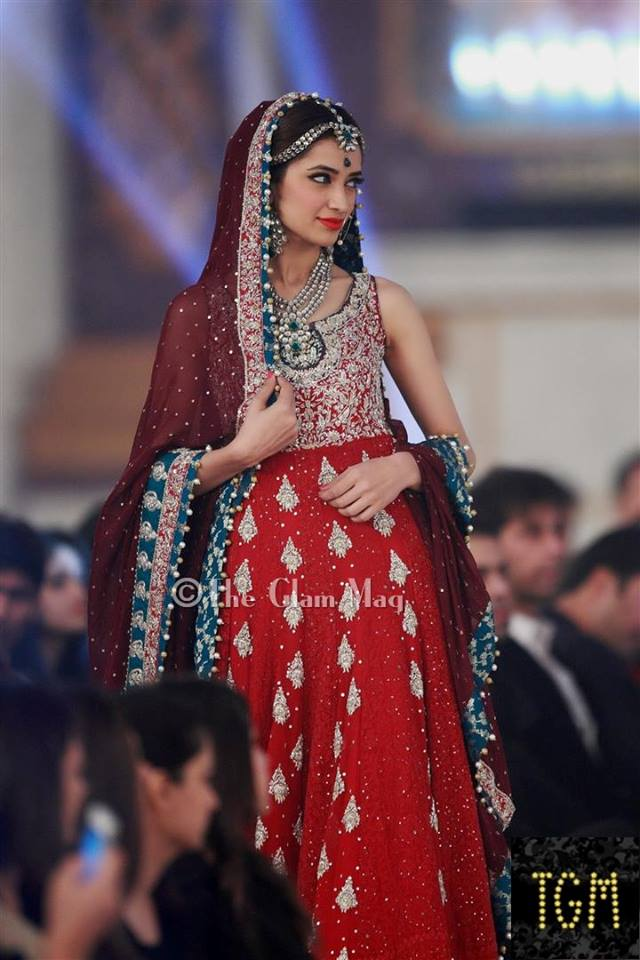 Zainab Chothani Latest Bridal collection 2014-2015 Pantene Bridal Couture week 2014 (3)