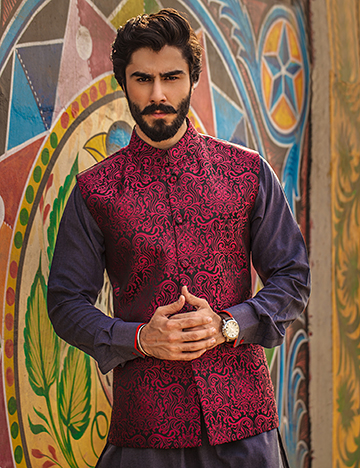 Arsalan Iqbal Men Festive Collection 2016-2017 Kurta Shalwar & Waist Coat Designs (12)