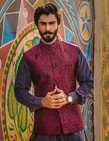 Arsalan Iqbal Men Festive Collection 2016-2017  Kurta Shalwar & Waist Coat Designs (12)