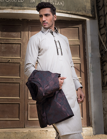 Arsalan Iqbal Men Festive Collection 2016-2017 Kurta Shalwar & Waist Coat Designs (5)