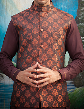 Arsalan Iqbal Men Festive Collection 2016-2017  Kurta Shalwar & Waist Coat Designs (6)