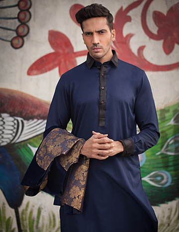Arsalan Iqbal Men Festive Collection 2016-2017  Kurta Shalwar & Waist Coat Designs (7)