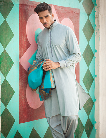 Arsalan Iqbal Men Festive Collection 2016-2017  Kurta Shalwar & Waist Coat Designs (9)