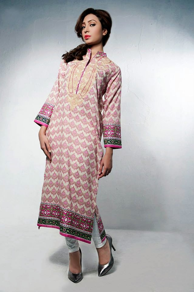 Bonanza Latest Summer Eid Wear Formal Dresses Collection for Women 2014 (4)