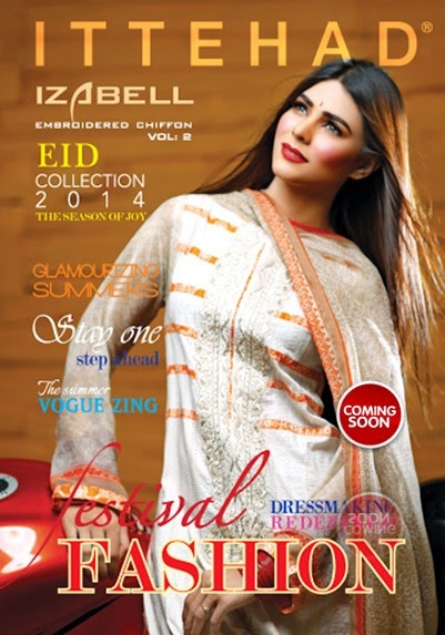 House Of Ittehad Latest Summer Eid Wear Formal Dresses Collection for Women 2014 (2)