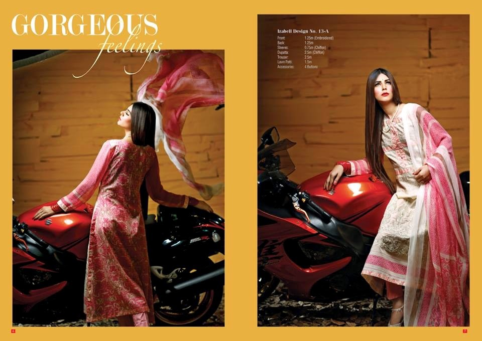 House Of Ittehad Latest Summer Eid Wear Formal Dresses Collection for Women 2014 (3)