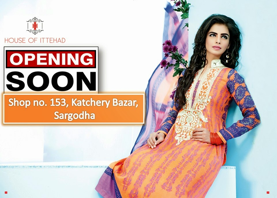 House Of Ittehad Latest Summer Eid Wear Formal Dresses Collection for Women 2014 (7)