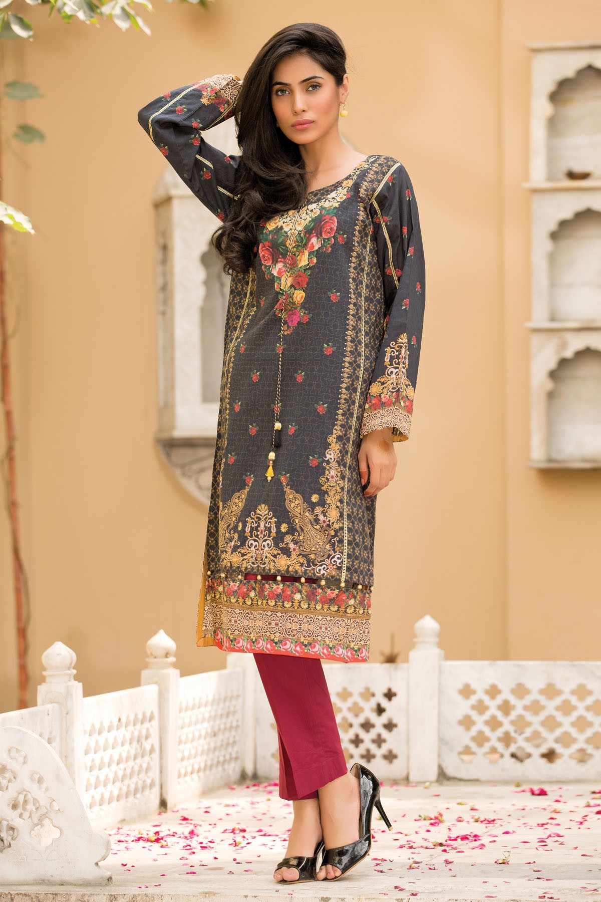 Kayseria Latest Winter Prints Best Shawls Dresses 2014: Kayseria Pret & Printed Dresses Pure Spirit Eid 2016-2017