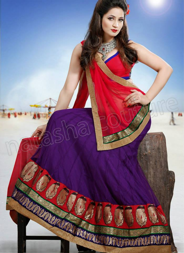 Latest Designs of Party & Wedding Formal Lehenga Choli Dresses collection for women 2014-2015 (11)