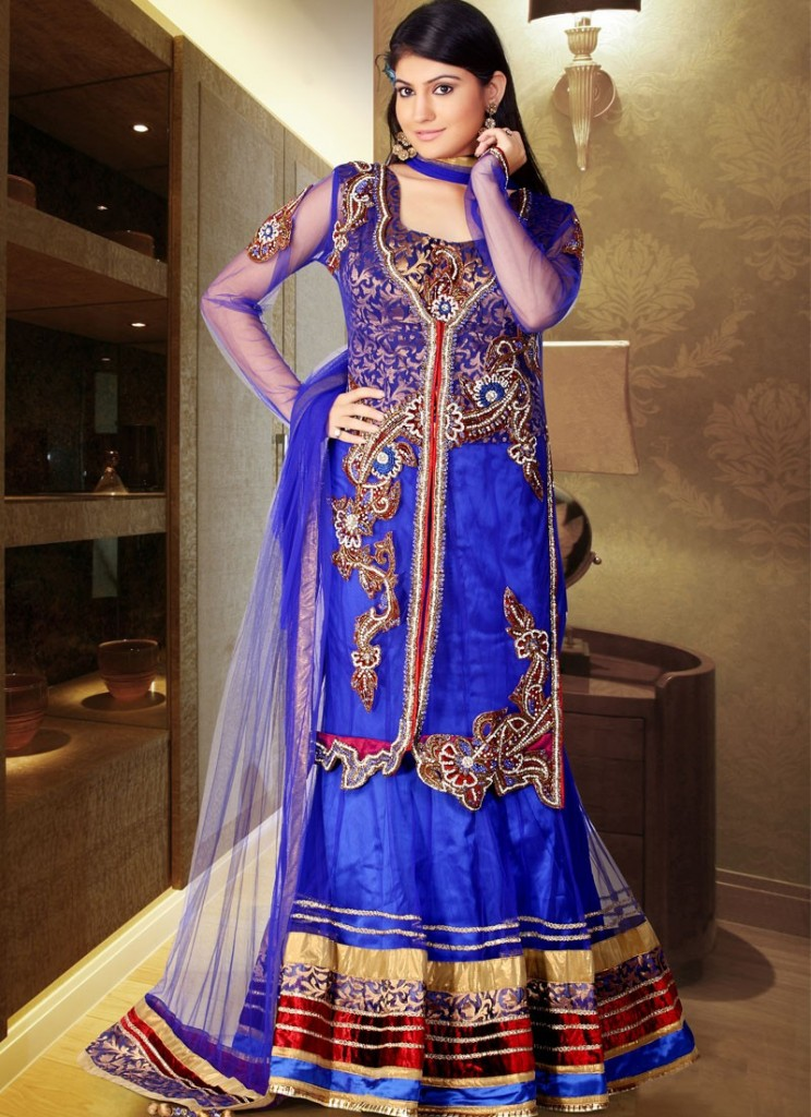 Latest Designs of Party & Wedding Formal Lehenga Choli Dresses collection for women 2014-2015 (3)