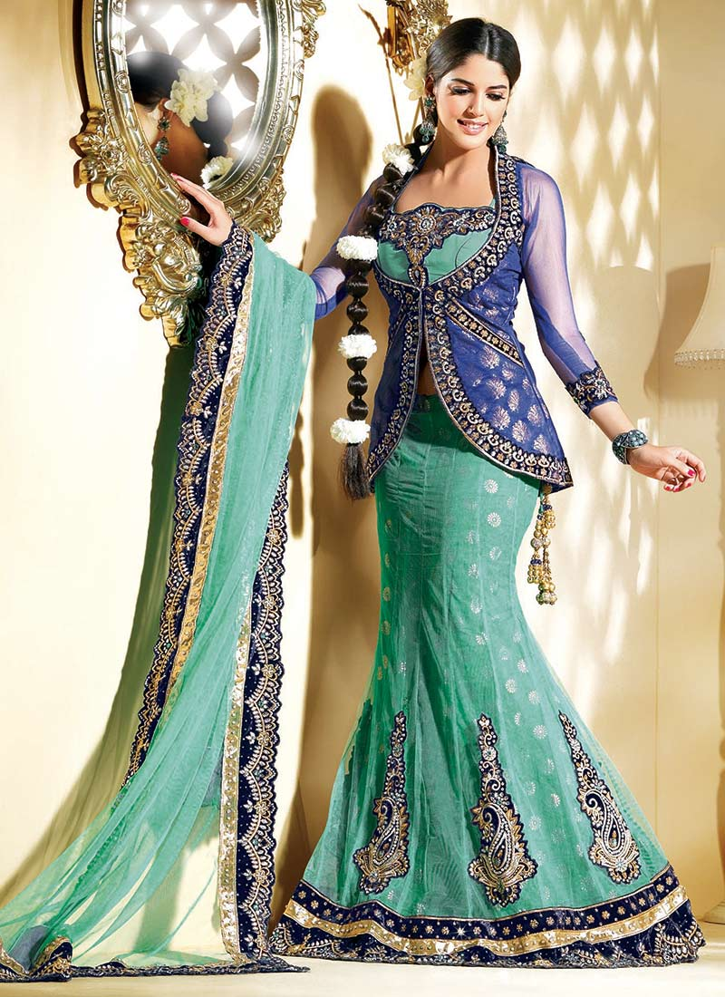Latest Designs of Party & Wedding Formal Lehenga Choli Dresses collection for women 2014-2015 (5)