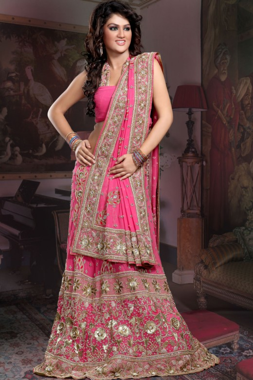Latest Designs of Party & Wedding Formal Lehenga Choli Dresses collection for women 2014-2015 (7)