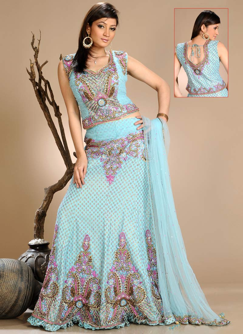 Latest Designs of Party & Wedding Formal Lehenga Choli Dresses collection for women 2014-2015 (8)