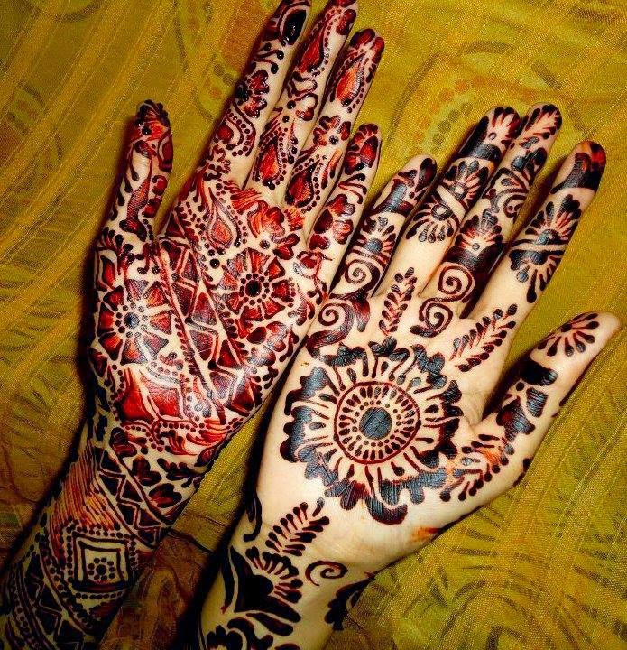 Latest Eid Mehndi Designs Collection for Girls 2014-2015 (11)