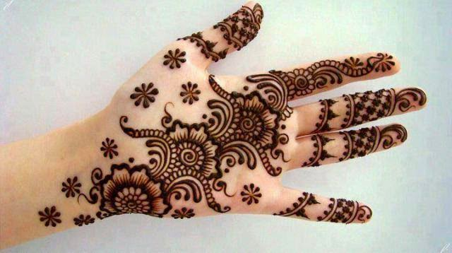 Latest Eid Mehndi Designs Collection for Girls 2014-2015 (12)