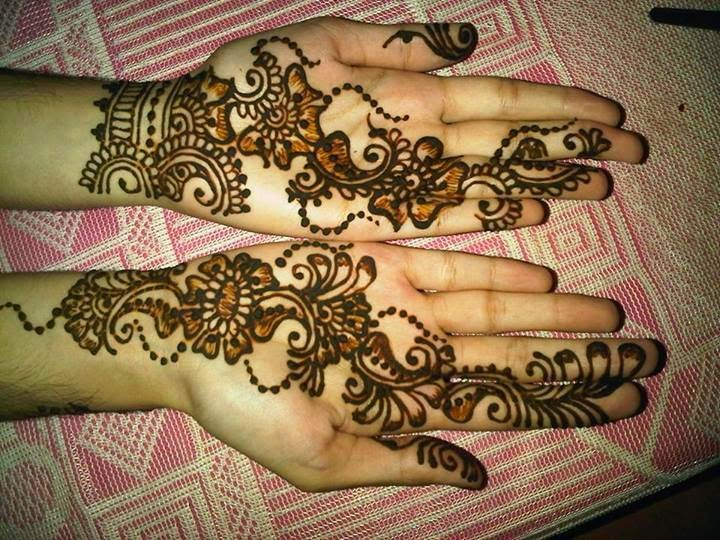 Latest Eid Mehndi Designs Collection for Girls 2014-2015 (13)