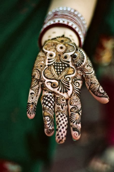 Latest Eid Mehndi Designs Collection for Girls 2014-2015 (7)