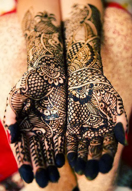 Latest Eid Mehndi Designs Collection for Girls 2014-2015 (9)