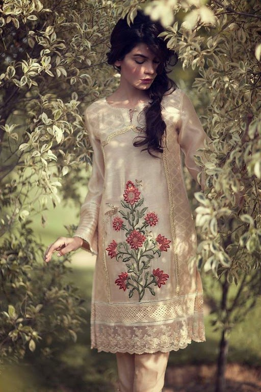 Latest Eid Wear Dresses Collection for Women 2014-2015 (3)