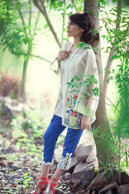 Latest Eid Wear Dresses Collection for Women 2014-2015 (9)