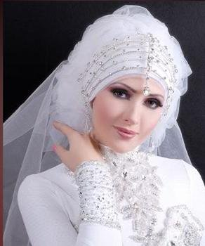 New Arabic bridal Dresses collection and hijabs for Muslim Women 2014-2015 (2)