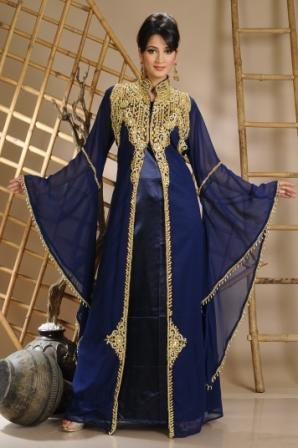 New Arabic bridal Dresses collection and hijabs for Muslim Women 2014-2015 (4)
